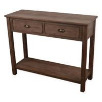 Decor Therapy Console Table in Vintage Distressed Wood
