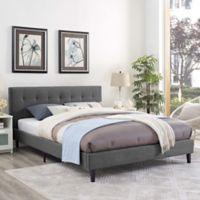 Modway Linnea Full Upholstered Platform Bed in Grey