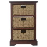Decor Therapy Timeless 3-Drawer Storage Chest in Acacia Cherry