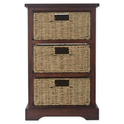 Exceptionnel Decor Therapy Timeless 3 Drawer Storage Chest In Acacia Cherry