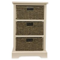 Decor Therapy Timeless 3-Drawer Storage Chest in White