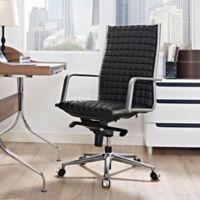 Modway Pattern Vinyl Highback Office Chair in Black