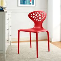 Modway Animate Dining Side Chair in Red