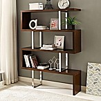 Modway Meander Bookcase in Walnut