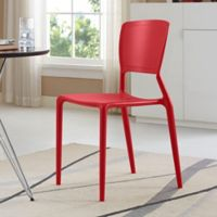 Modway Fine Dining Side Chair in Red