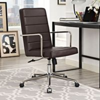 Modway Cavalier Highback Office Chair in Brown
