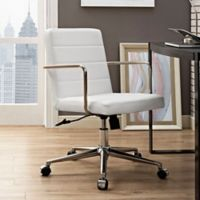 Modway Cavalier Mid-Back Office Chair in White