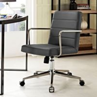 Modway Cavalier Mid-Back Office Chair in Grey