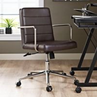 Modway Cavalier Mid-Back Office Chair in Brown