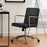 Modway Cavalier Mid-Back Office Chair in Black