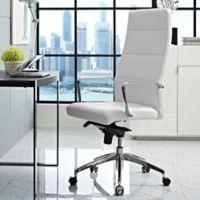 Modway Stride Vinyl Highback Office Chair in White