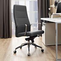 Modway Stride Vinyl Highback Office Chair in Grey