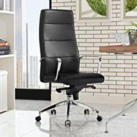 Modway Stride Vinyl Highback Office Chair in Black