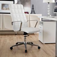 Modway Tile Vinyl Highback Office Chair in White