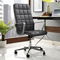 Modway Tile Vinyl Highback Office Chair in Grey