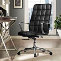 Modway Tile Vinyl Highback Office Chair in Black