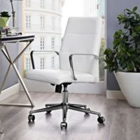 Modway Stride Vinyl Mid-Back Office Chair in White