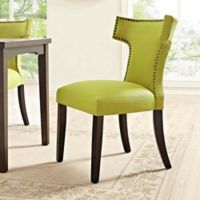 Modway Curve Dining Side Chair in Wheatgrass
