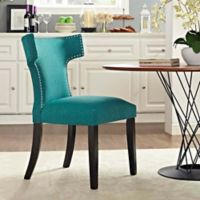 Modway Curve Dining Side Chair in Teal