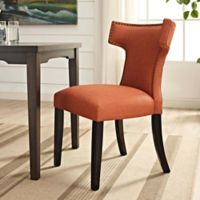 Modway Curve Dining Side Chair in Orange