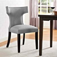 Modway Curve Dining Side Chair in Light Grey