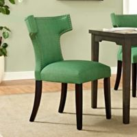 Modway Curve Dining Side Chair in Green