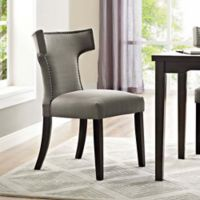 Modway Curve Dining Side Chair in Granite