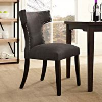 Modway Curve Dining Side Chair in Brown