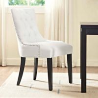 Modway Regent Vinyl Dining Side Chair in White
