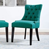 Modway Regent Upholstered Dining Side Chair in Teal