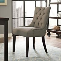 Modway Regent Upholstered Dining Side Chair in Granite