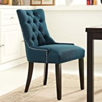 Modway Regent Upholstered Dining Side Chair in Azure