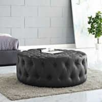 Modway Armour Ottoman in Black