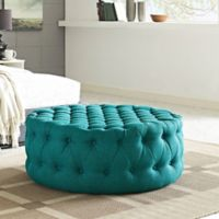Modway Armour Fabric Ottoman in Teal