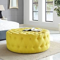 Modway Armour Fabric Ottoman in Sunny