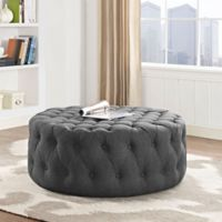 Modway Armour Fabric Ottoman in Grey