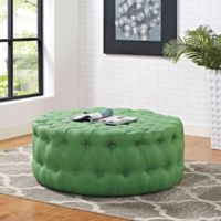 Modway Armour Fabric Ottoman in Green