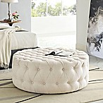 Modway Armour Fabric Ottoman in Beige