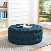 Modway Armour Fabric Ottoman in Azure