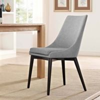 Modway Viscount Fabric Dining Chair in Light Grey