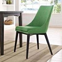 Modway Viscount Fabric Dining Chair in Green