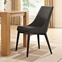 Modway Viscount Fabric Dining Chair in Brown