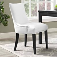 Modway Marquis Faux Leather Dining Side Chair in White