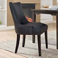 Modway Marquis Faux Leather Dining Side Chair in Black