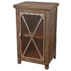 Decor Therapy Chicken Wire Cabinet in Distressed Brown