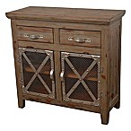 Décor Therapy Chicken Wire 2-Door Cabinet in Vintage Brown