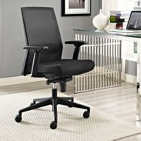 Modway Shift Fabric Swivel Office Chair in Black