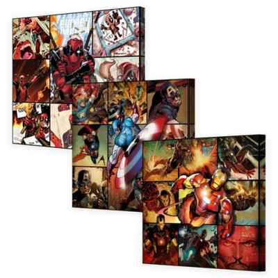 Marvel® Montage Canvas Wall Art Collection