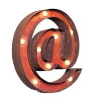 Vintage Retro Lights @ Symbol Wall Art