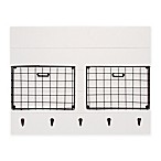 Darlene Wall Organizer with Hooks in White